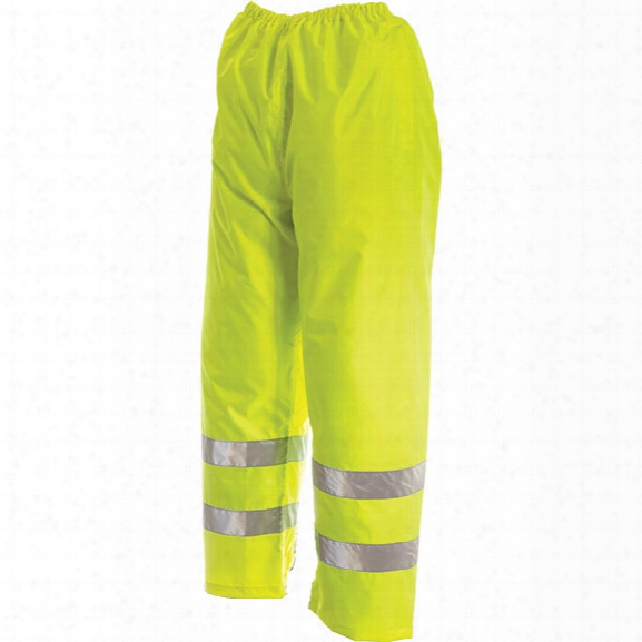 Viking Open Road 150 Denier Rip Stop Safety Waist Pant, Fluorescent Green, 2x-large - Green - Male - Included