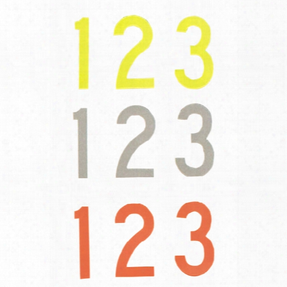 """Visual Image Systems 2"""" Fire Helmet Reflective Number Decal, Lime, Single, 0 - Orange - Unisex - Included"""