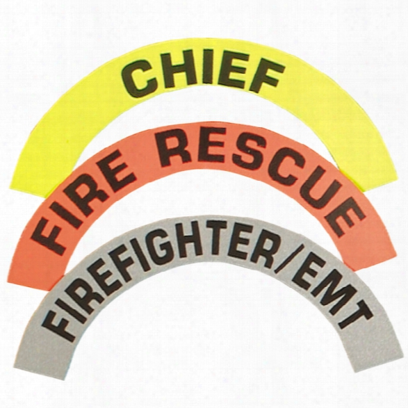 Visual Image Systems Reflective Crescent Fire Helmet Decals, Lime, Pair, Asst Chief - Orange - Unisex - Included