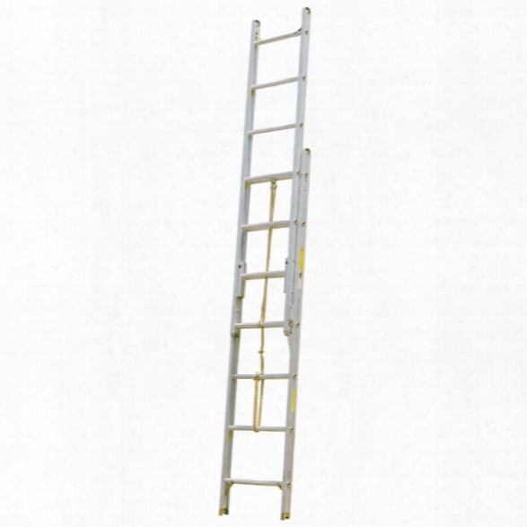 "Alco-lite Aluminum 2-section Pumper Type Ladder, 12'l E Xtended, 8'5""l Closed, 21""w, 5-1/16"" Banking Thickness, 48 Lbs. - Silver - Male - Excluded"