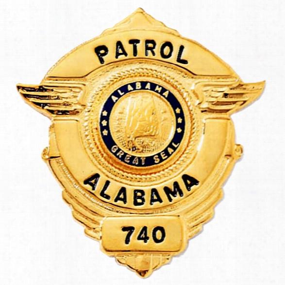 Blackinton Custom Mini Badge, 1-1/2x1-3/8, Gold - Gold - Male - Included