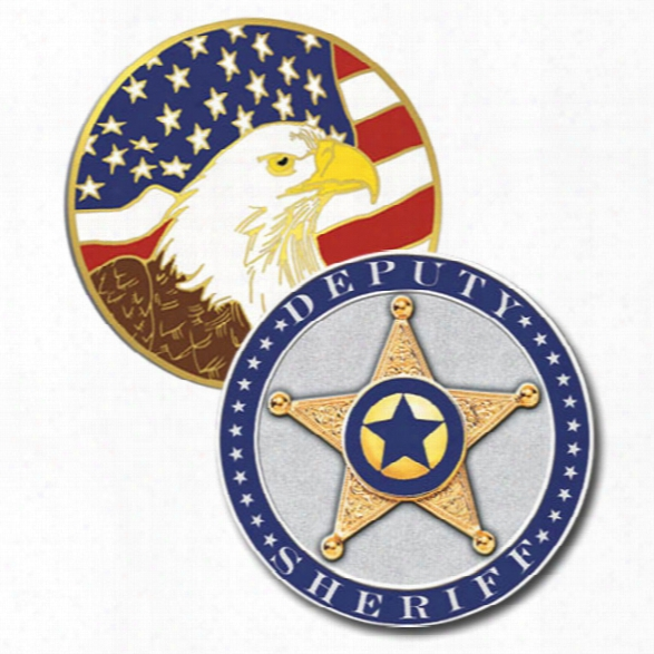 Blackinton Deputy Sheriff Challenge Coin, Blue - Silver - Male - Included