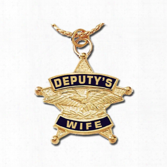 Blackinton Deputy's Wife Charm Necklace, Brass/gold Plate - Brass - Unisex - Included