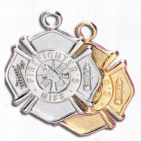 Blackinton Firefighter's Wife Charm (no Chain), Sterling Silver - Silver - Unisex - Included