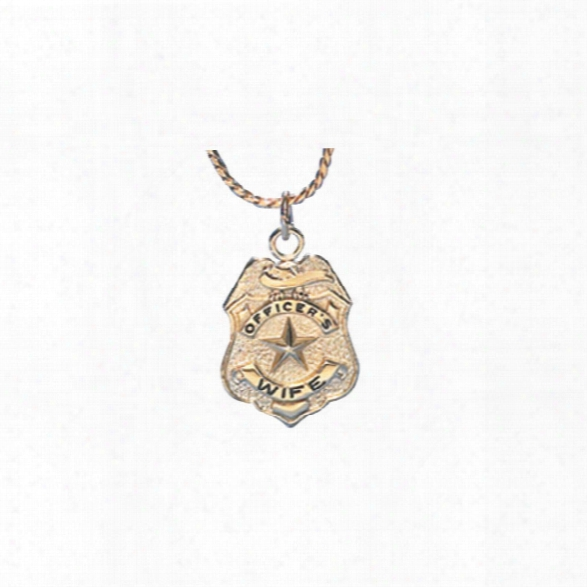 Blackinton Officer's Wife Charm Necklace, Brass/gold Plate - Brass - Unisex - Included