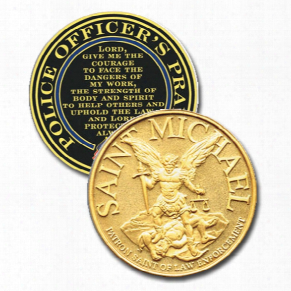 Blackinton St. Michael Challenge Coin - Gold - Male - Included