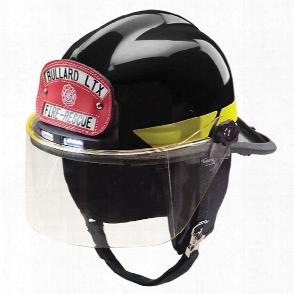 Bullard Lt Thermoplastic Structural Fire Helmet, Faceshield, Black - White - Male - Excluded