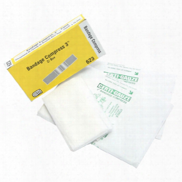 "Certified Safety 3"" X 4"" Woven Nonstick Pad & 3"" X 36"" Gauze - Unisex - Included"