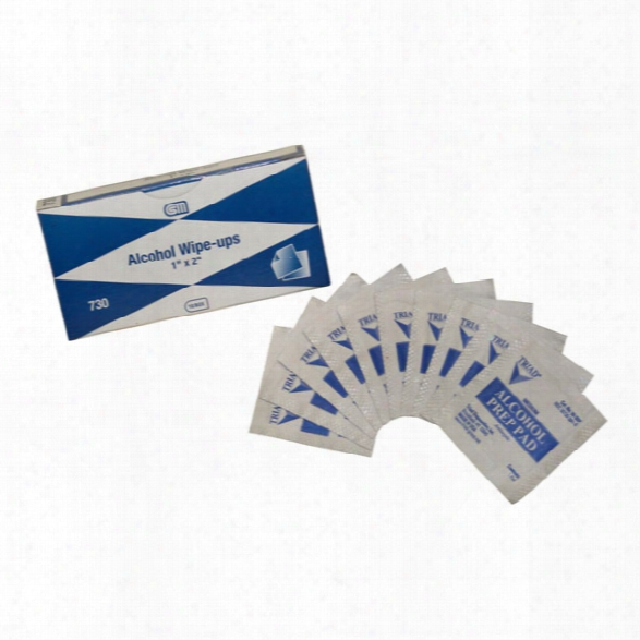 "Certified Safety Alcohol Wipe-ups - 1"" X 2"" - 10/unit - Unisex - Included"