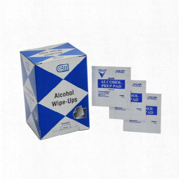 Certified Safety Alcohol Wipe-ups - 50/box - Unisex - Included