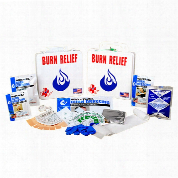 Certified Safety Burn First Aid Kit, 24 Person, Poly White - White - Unisex - Include D