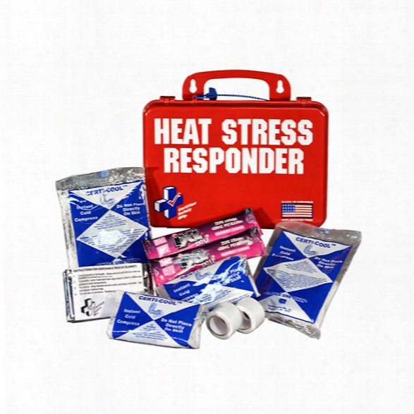 Certified Safety Heat Stress Responder Kit, Red Poly Case - Red - Male - Included