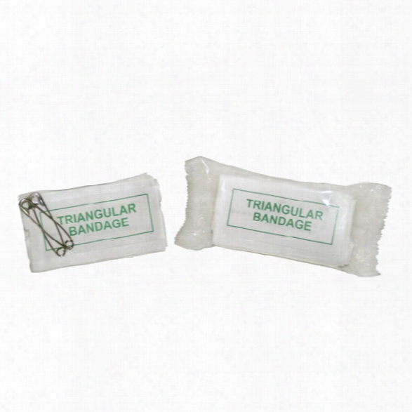 Certified Safety Triangular Bandage - Clear Plastic Package - Usa Mfg. - Unisex - Included