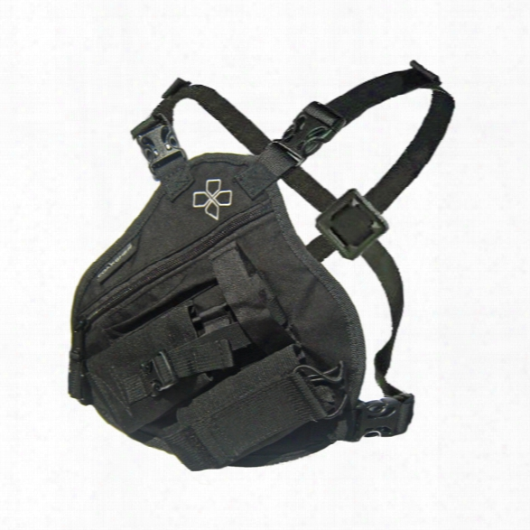 Coaxsher Rp-1 Scout, Radio Chest Harness, Black - Black - Male - Incuded