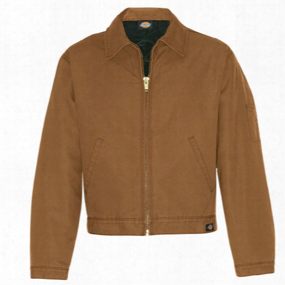 Dickies Canvas Jacket, Rinsed Brown Duck, 2xl - Brass - Male - Included