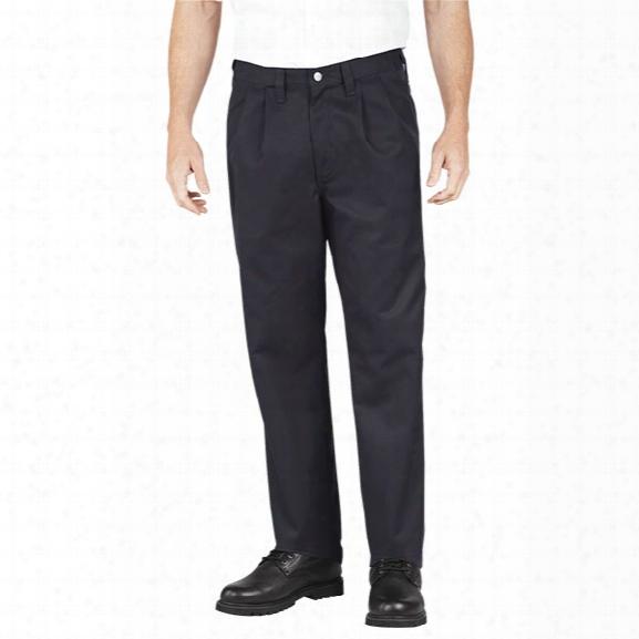 Dickies Premium Industrial Pleated Front Comfort Waist Pant, Black, 28/37u - Black - Male - Included