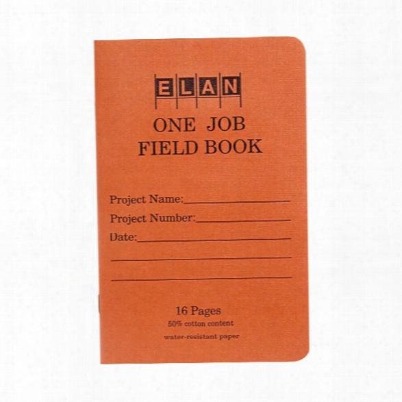 Elan Publishing Field Book One Job - White - Unisex - Includedd