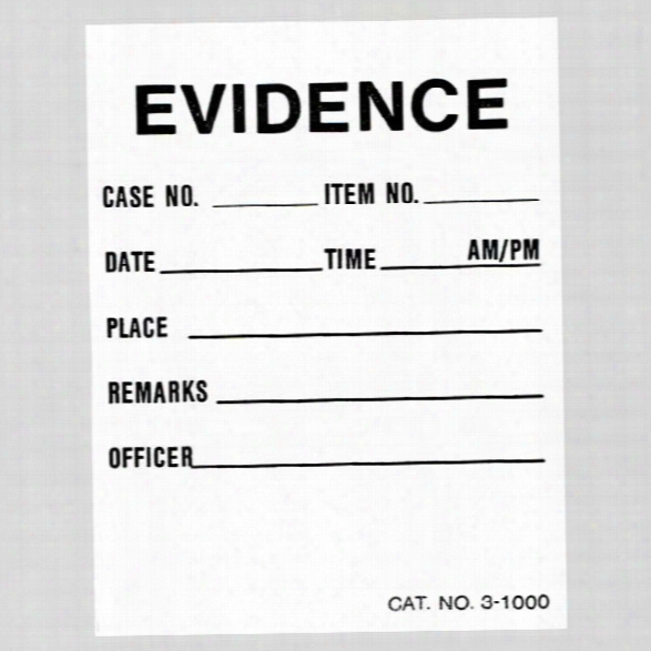 "Forensics Source (100/pk) Evidence Labels, 2"" X 2&quuot; - Unisex - Included"
