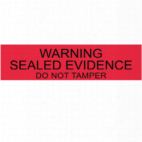 "Forensics Source (250/roll) ""sealed Evidence"" Labels, Red/black, 1"" X 4"" - Red - Unisex - Included"
