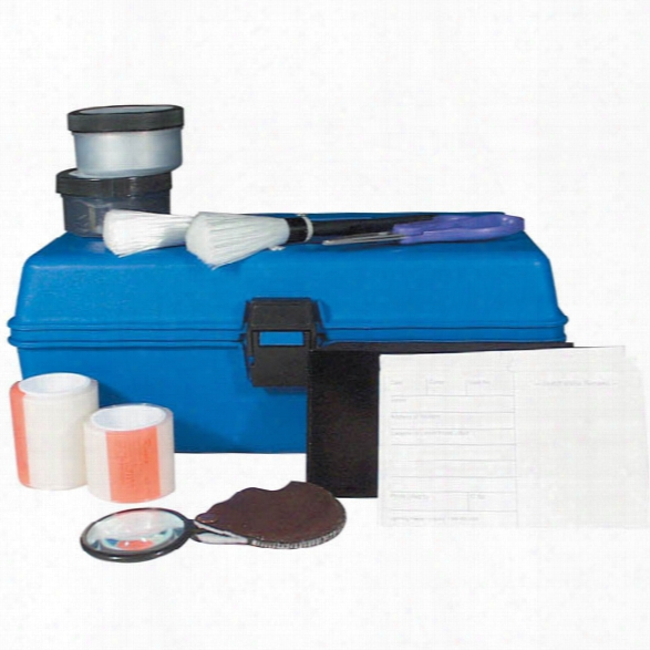 Forensics Source Lightning Powder Deluxe Latent Print Kit - Silver - Male - Included