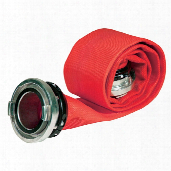 "Kochek Large-diameter Fire Hose, 5"" X 50-ft., Red - Yellow - Male - Included"