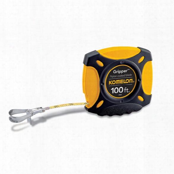 "Komelon 100' X 3/8"" Gripper Closed Case Steel Tape Measure - Unisex - Included"