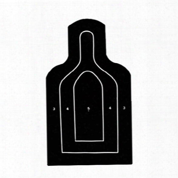 Law Enforcement Targets M9 Silhouette 25-meter, 25/pk - Black - Unisex - Included