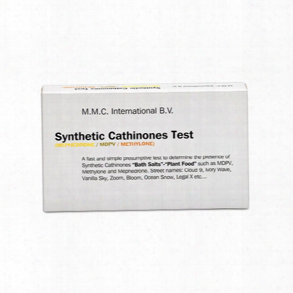 "Mmc America Synthetic Drug Test Kit, Methylone, Mdpv, Mephedrone, ""bath Salts"", Box/10 - Male - Included"