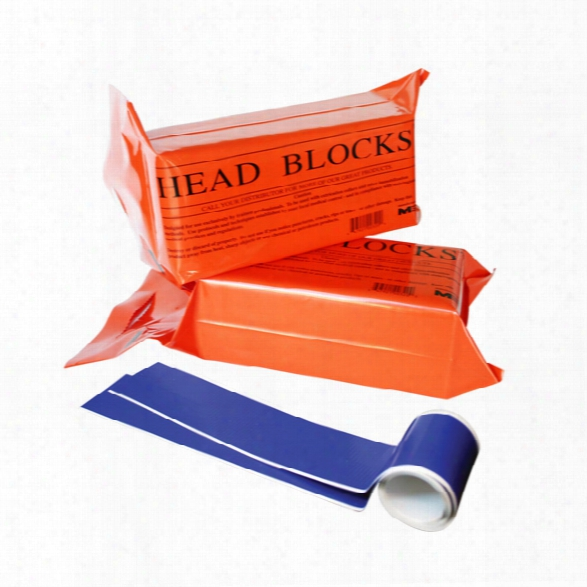 Morrison Medical Orange Foam Blocks With Head & Chin Straps, Pair - Orange - Unisex - Included