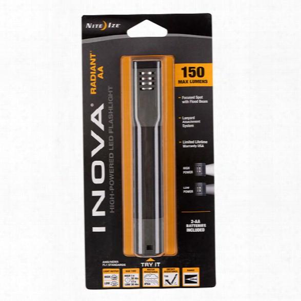 Nite Ize Inova® Radiant Led Flashlight, Aa Powered - White - Male - Included