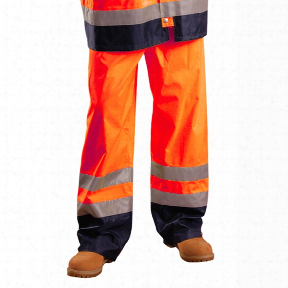 Occunomix Breathable/waterproof Pants, Class E, Orange, 2x - Yellow - Male - Included