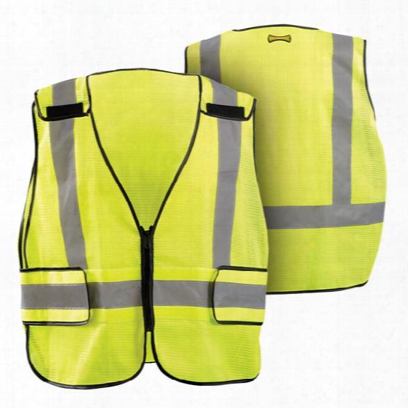 Occunomix Class 2 Public Safety Dor Vest, Yellow W/black Trim, Regular - Black - Unisex - Included