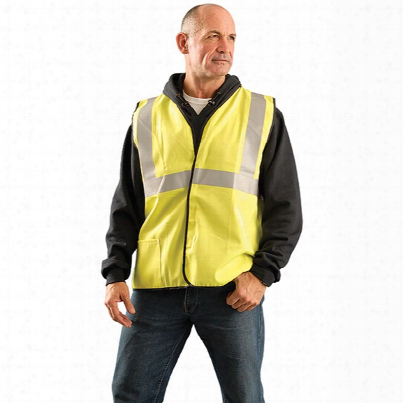 Occunomix Flame Resistant Vest W/hook & Loop, Yellow, 2x-large - Yellow - Unisex - Included