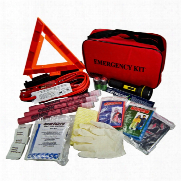Orion Safety Deluxe Roadside Emergency Kit - Green - Unisex - Included