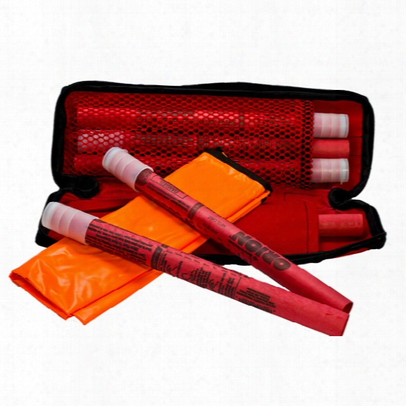 Orion Safety Roadside Emergency Flare Kit With Six 20 Minute Flares (0720 Flare) - Orange - Male - Included