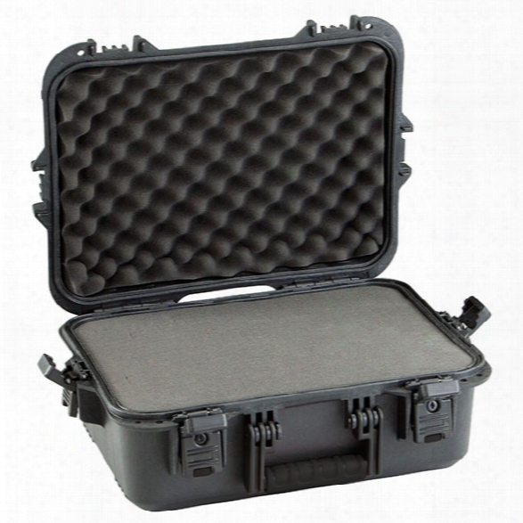Plano Tactical All Weather Pistol/accessory Case, Black Latches/ Handle, X-large - Black - Male - Included