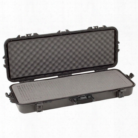 "Plano Tactical All Weather Takedown Case W/ Foam, Black Latches/ Handle, 36"" - Black - Male - Included"
