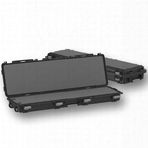 """Plano Tactical Fieldlocket Mil-spec Gun Case, Double Long W/ Wheels, Cut-to-fit Foam, 54"""", Black - Black - Male - Included"""