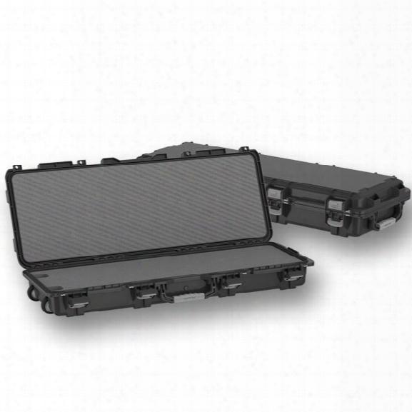 """Plano Tactical Fieldlocker Mil-spec Gun Case, Tactical Long W/ Wheels, Cut-to-fit Foam, 44"""", Black - Back - Male - Included"""