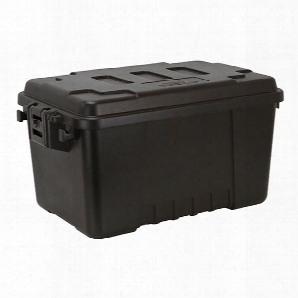 Plano Tactical Storage Trunk, Small, Black, 56 Qt - Black - Male - Included
