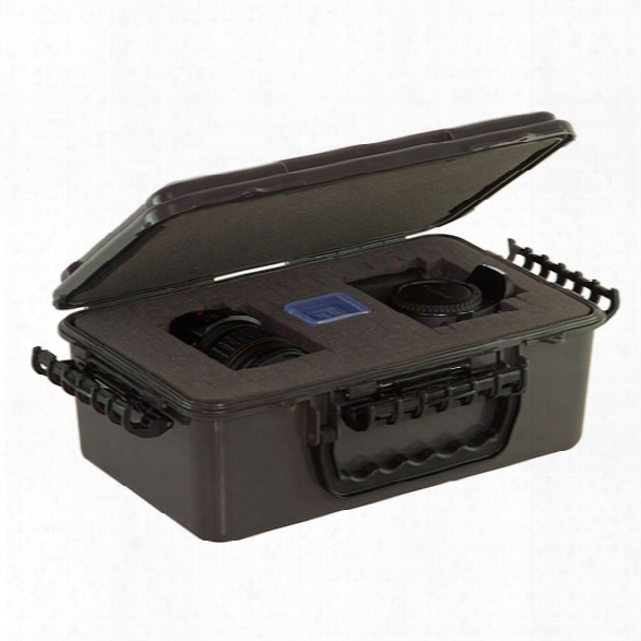 Plano Tactical Waterproof Storage Video/ Camera Case, Metallic Gray/ Black - Black - Male - Included