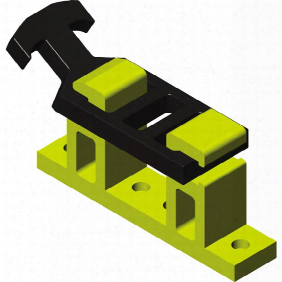 """Pok Quick-release Appliance Bracket, 3-1/2"""" - Yellow - Male - Included"""