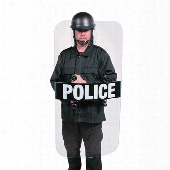 Premier Crown Full Length Riot Shield, Corrections - Clear - Unisex - Included