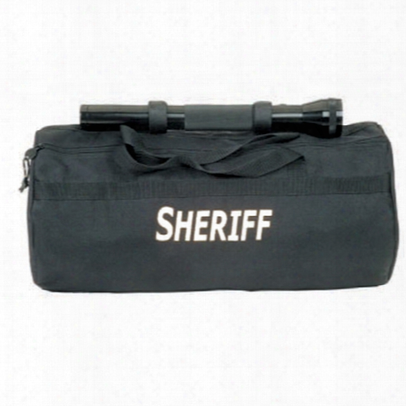 Premier Emblem Duffel Bag, Black, (19 Long) With Sheriff In White - Black - Male - Included
