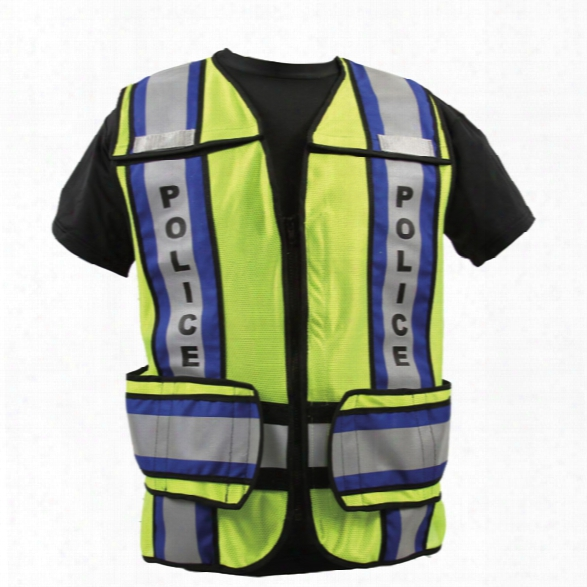 Radians Micro Mesh Ansi 207-2006 Zip-n-rip Vest, Black W/ems, Lime W/black/orange/silver, Jumbo - Lime - Unisex - Included