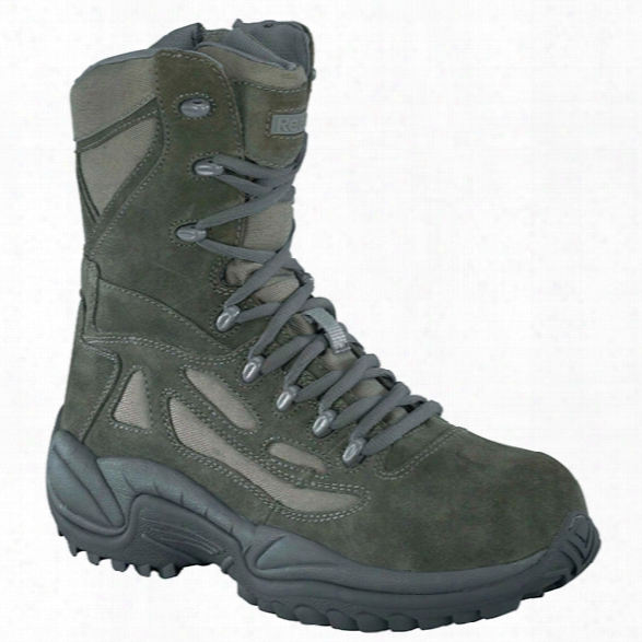 "Reebok Rapid Response 8"" Comp Toe Sidezip Boot, Sage Green, 10.5m - Metallic - Male - Excluded"