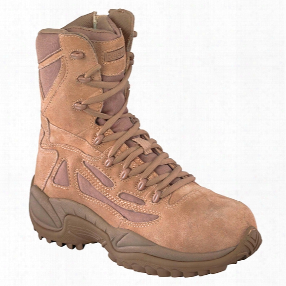 "Reebok Rapid Response 8"" Sidezip Boot, Desert Tan, 10.5m - Metallic - Male - Excluded"