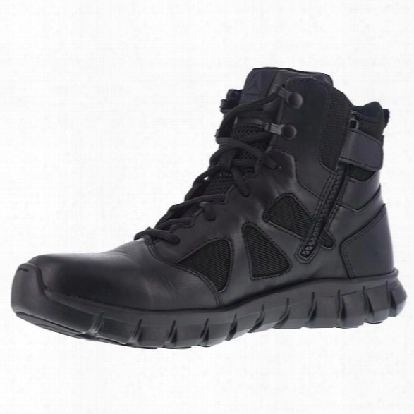 Reebok Sublite Cushion 6 Sidezip Tactical Boot, Black, 10.5 Medium - Black - Male - Excluded