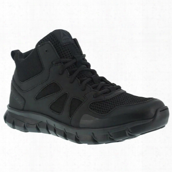 Reebok Women's Sublite Cushion Mid Tactical Boot, Black, 10.5 Medium - Black - Female - Excluded