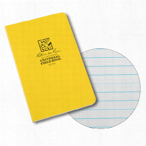 Rite In The Rain 4-5/8 X 7-1/4 Side Bound Field-flex Universal Book, Yellow - Green - Unisex - Included